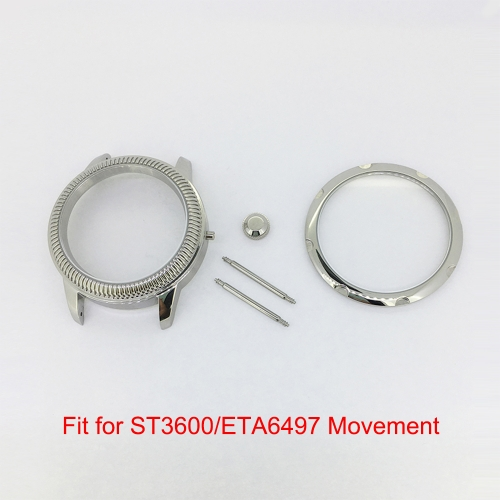 Fit for ST3600/3621/ETA6497 Movement 44mm 316L Stainless Steel Watch Case