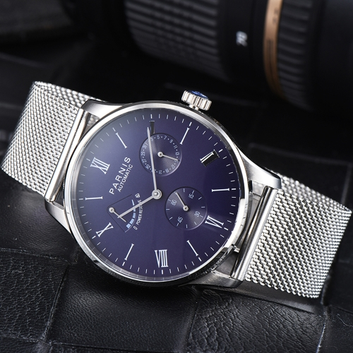 Parnis Power Reverse Automatic Movement Men's Boys Watch Date Small Second Gift